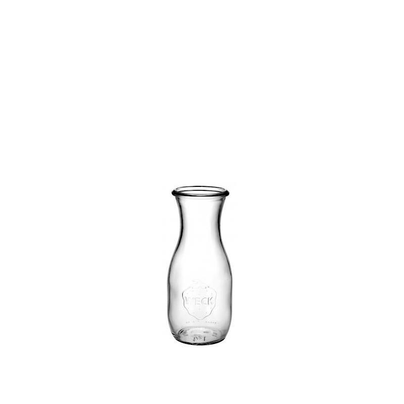 4 bouteilles 540 ml en verre WECK modèle Flacon, sans couvercle ni joint - BOCAUX WECK SANS COUVERCLE NI JOINT