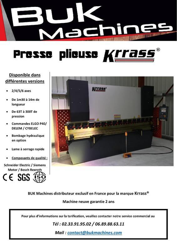 PRESSE PLIEUSE série WC67K - Tolerie Machines Neuves