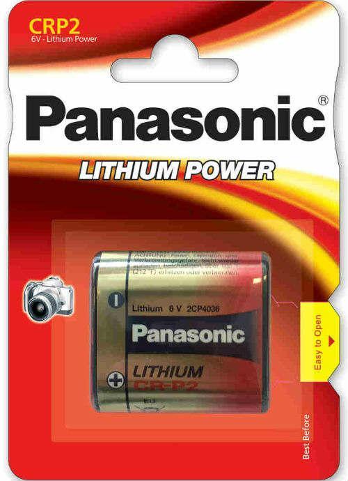 Batterie al litio Foto Power CRP2 - CR-P2PL/1BP   Blister da 1 pila per fotocamere Panasonic