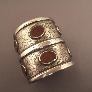 Bracelets - Argent,cornalines, Turkménistan