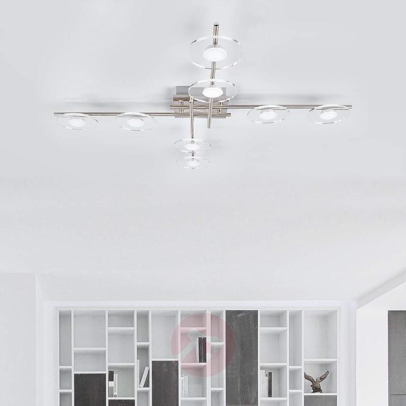 8-light LED ceiling light Tiam - Ceiling Lights
