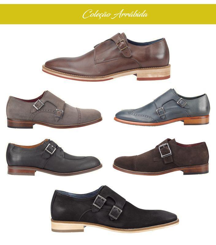 Botas e sapatos de couro -