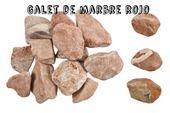 Galets de marbre - Galet rojo : Galet de marbre rouge