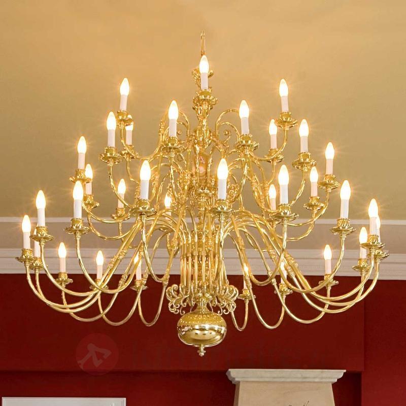 Lustre IMKE, 39 lampes, laiton poli - Lustres classiques,antiques