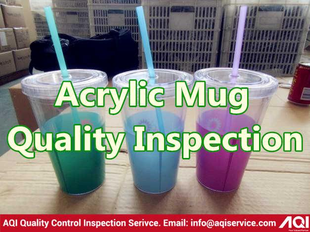 Acrylic Mug Quality Control Service