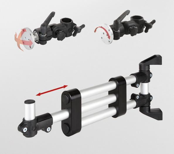 Support arms / swivel arms for monitor mountings -