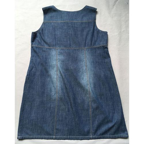 Stonewashed blue denim dress -