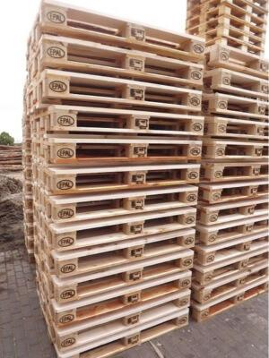 EPAL EURO pallets - EPAL EURO pallets with solid wood or composite pressed wood blocks