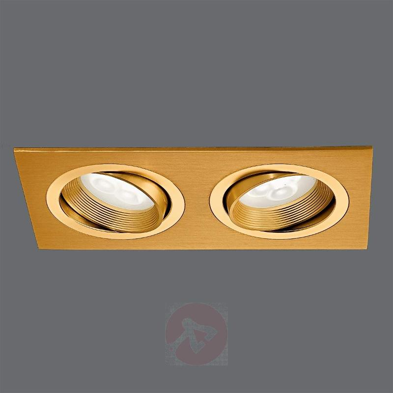 Minar LED Built-In Light Brass-Coloured Two Bulbs - Recessed Spotlights