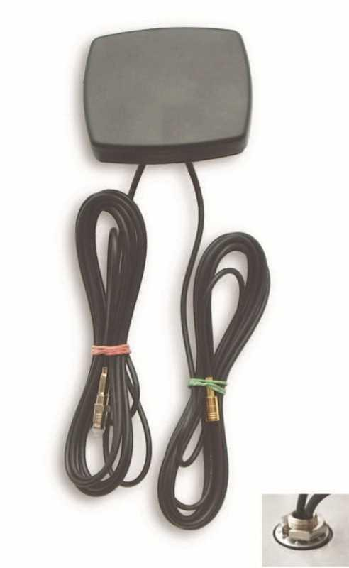 Screwable Flat Antenna with 2 Cable 2G/3G/GPS/ - Cel: FME/F 10000 (mm) RG174LL cable WiFi/BT: SMA/M (mm) cable