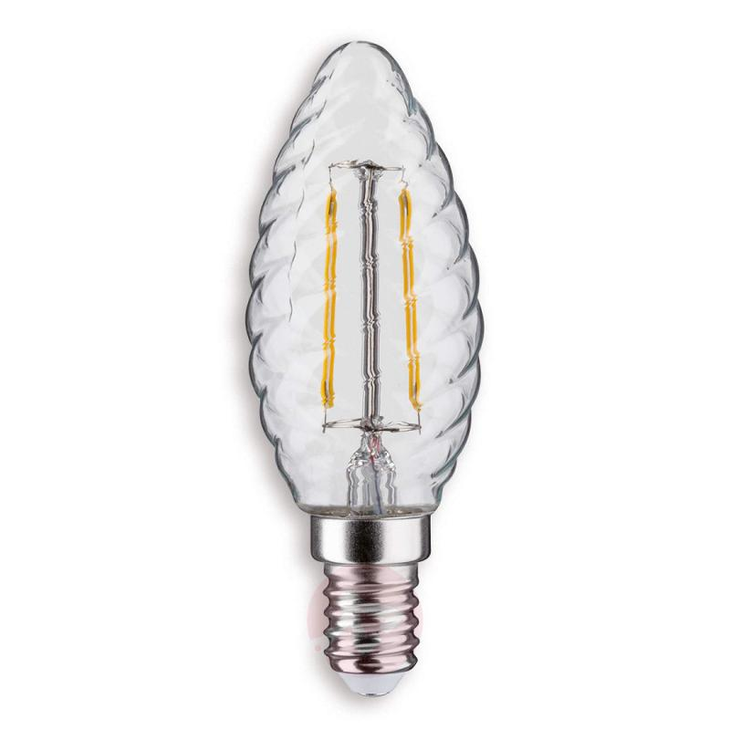 E14 2.5 W 827 LED candle bulb, twisted - light-bulbs