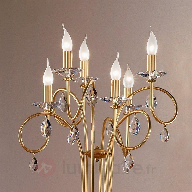Lampadaire VIOLETTA à 6 ampoules, doré - Tous les lampadaires