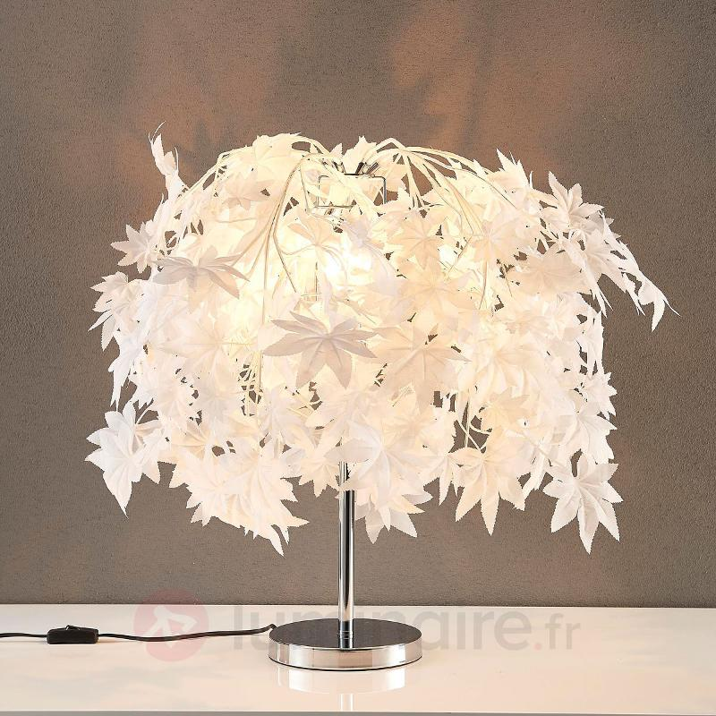 Lampe à poser Maple avec forêt de feuilles - Lampes à poser en tissu