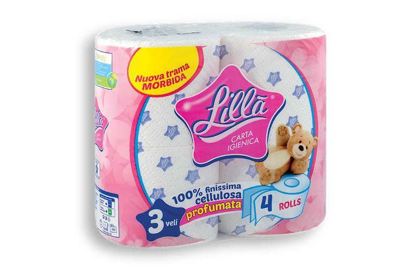 LILLA' – carta igienica 4 rotoli - Carta Igienica