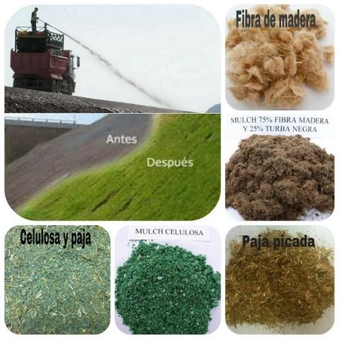HYDROSEEDING MULCH - Various types of organic hydroseeding mulches
