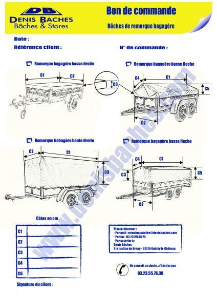 Bâches de remorque bagagère basse droite - bagagereBD-