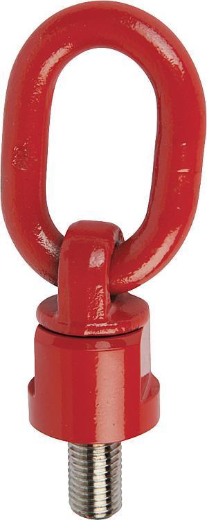 Anneau de levage articulé rotatif à 360° classe de... - Anneaux de levage fixes et pivotants, anneaux à broche autobloquante