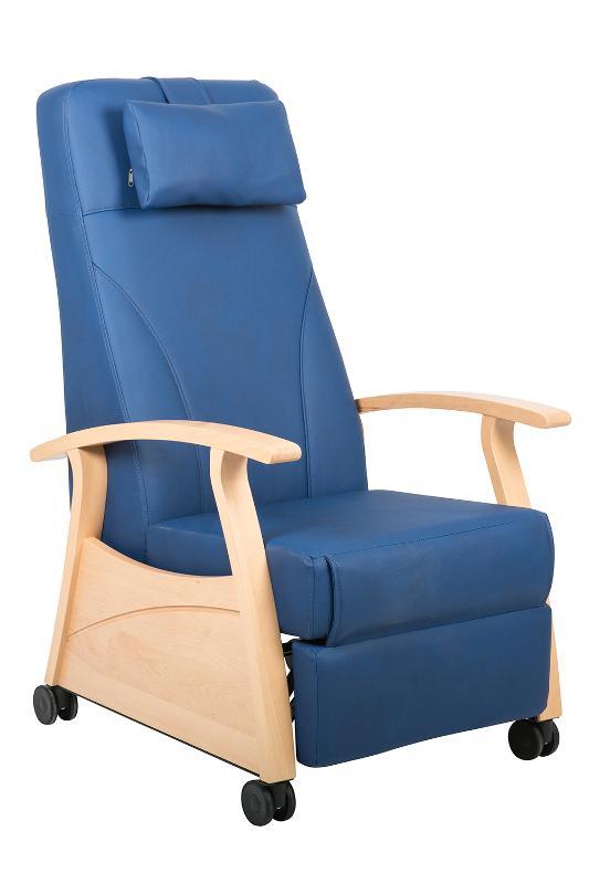 Ruhesessel Lloyd mit Rollen, Farbe Blau - Relaxstuhl Lloyd
