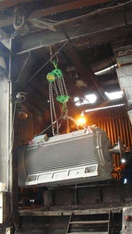 Montage moteur Siemens 1470 kW - Maintenance électro-mécanique sur site
