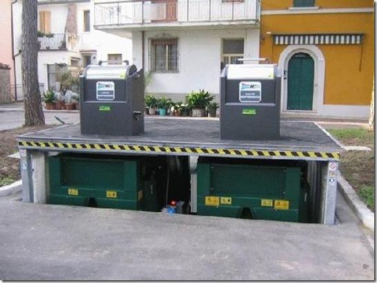 Подъемники для мусорных систем - Гидравлический подъемник для мусорных контейнеров