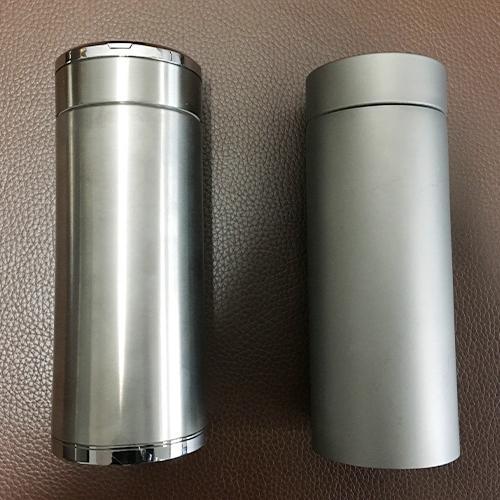 Titanium Bottle - Pure Titanium, polishing blasting PVD double sport water bottle,70x220mm, 650ml