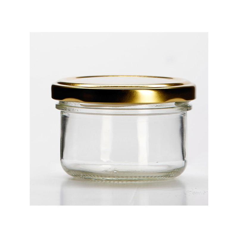12 bocaux verrines 120 ml, TO 70 mm capsules comprises - BOCAUX CYLINDRIQUES