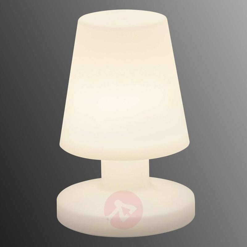 Outdoor LED table lamp Bora in white plastic - outdoor-led-lights