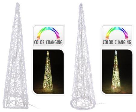 Cône LED multicolor 38 cm - null
