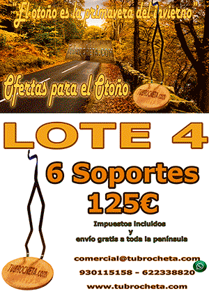LOTE O-4 - SOPORTES DE BROCHETA ROBUSTA