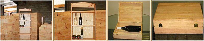 Coffrets et présentoirs en bois - Coffrets en bois pour bouteilles de vin