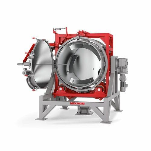 MIXACO Universal Mixer Horizontal Revolution - MIXACO Revolution™ is mixing system that functions without active mixing tools.