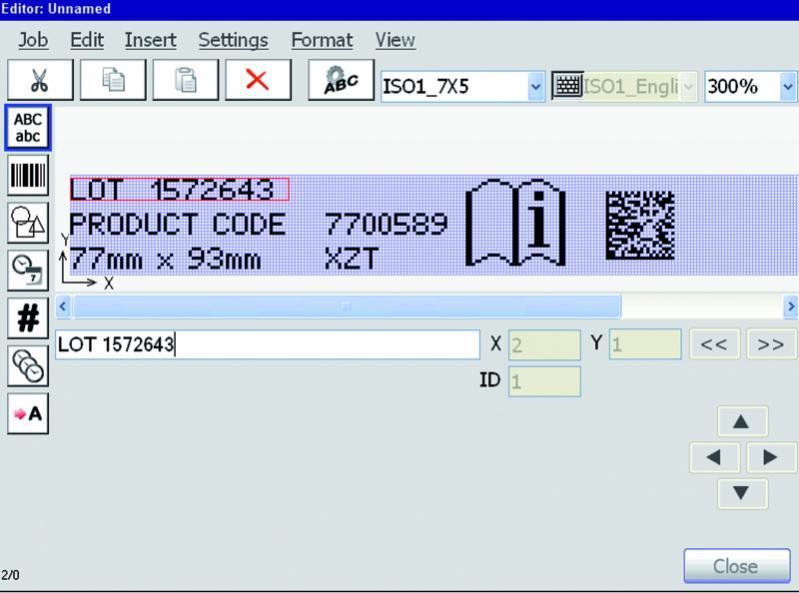 JETedit3 - Arbeitsvorbereitungs-Software für industrielle Inkjet-Drucker