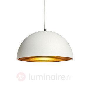 Suspension Forchini M blanc doré 40 cm - Cuisine et salle à manger