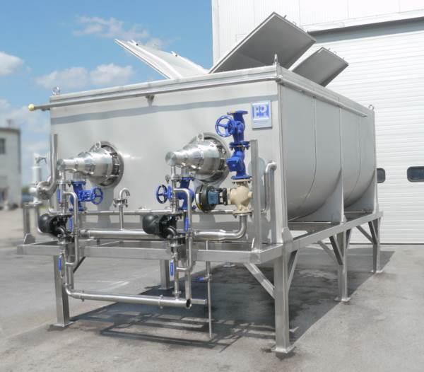 Termobreak a defrosting, heating, or cooling device  - for raw material, which can be used for pulp or creamogen