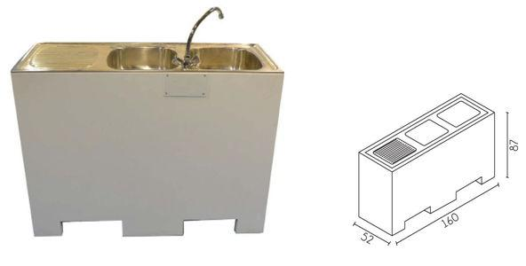 Sink - For stands or showrooms