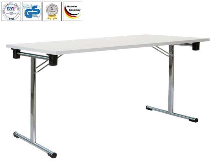Folding table Single (Standard, Premium or Exklusiv) - Folding table with t-frames   GS-tested