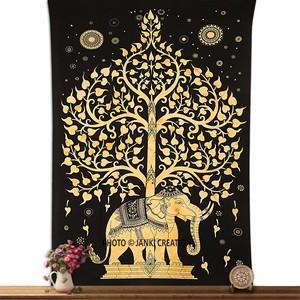 Golden Hippie Hippy Wall Hanging Tapestry Mandala Bohemian