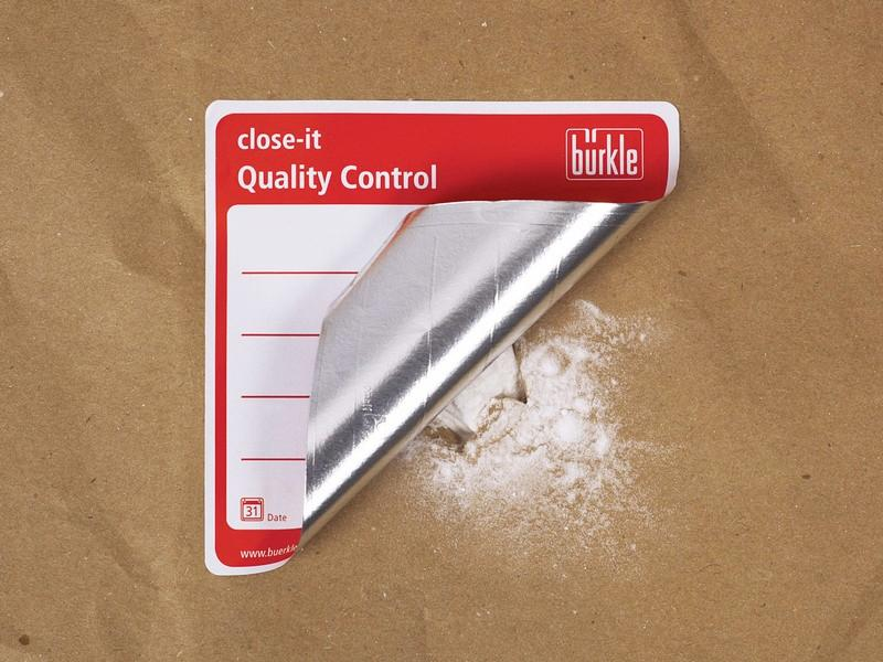 Control seal close-it - Sampling equipment for sacks or bags, label to seal holes reliable