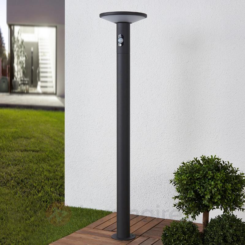 Borne lumineuse LED Jersy, panneau solaire, 100 cm - Lampes solaires avec détecteur
