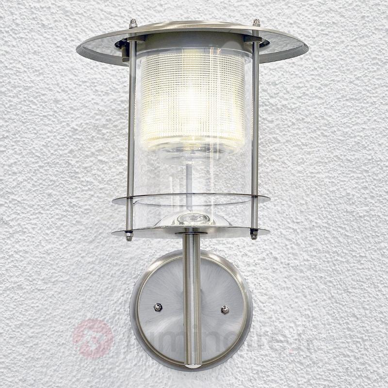 Applique LED solaire Liss en inox - Appliques solaires
