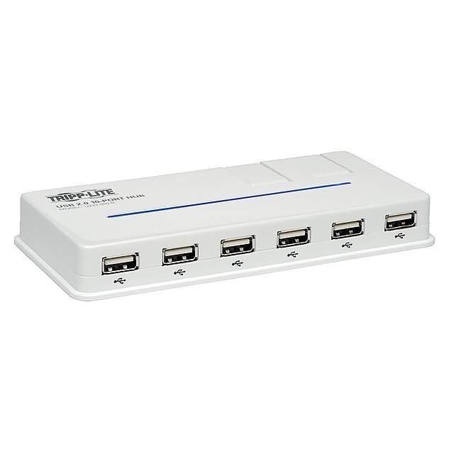 10-PORT W/ 2 SWIVEL USB 2.0 USB - Tripp Lite U222-010-R