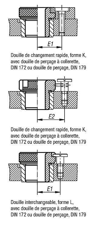 Douille de perçage amovible DIN 173, partie 1 - Douilles de perçage