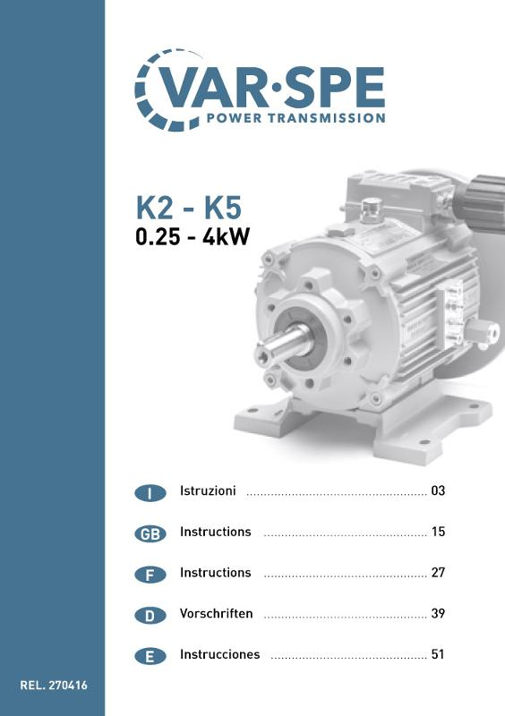 Manuali uso e manutenzione - Soluzioni per trasmissioni a velocità variabile