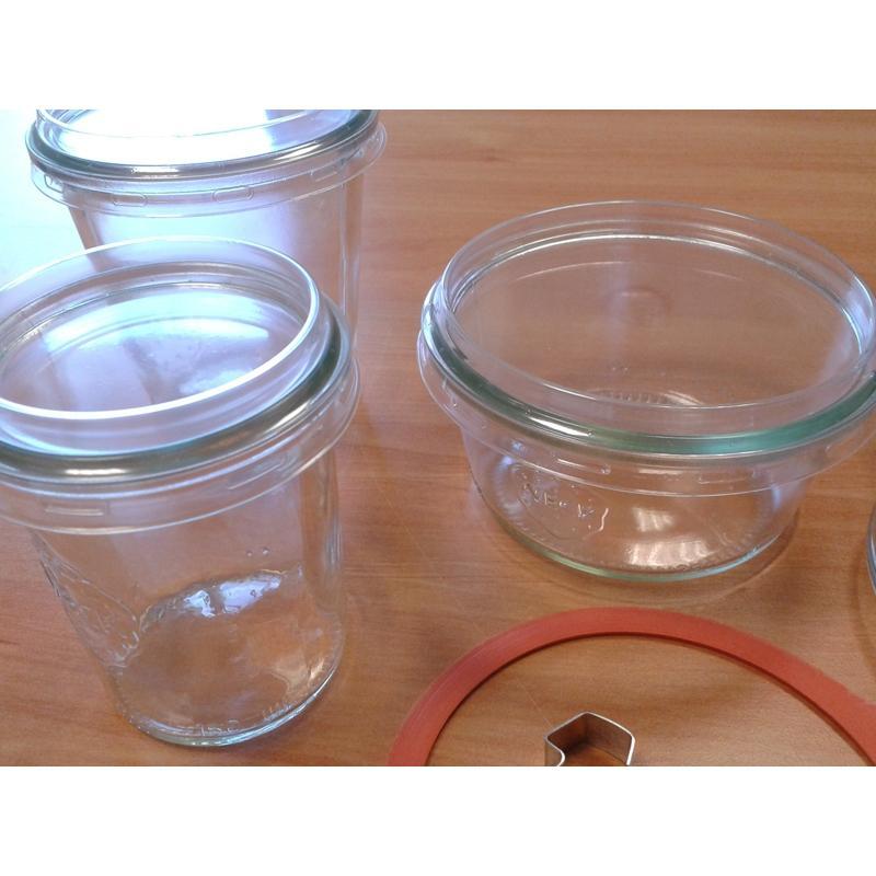 Accesorios WECK® - 24 Cofias para microonda para tarros WECK en diámetro 100 mm. solamente