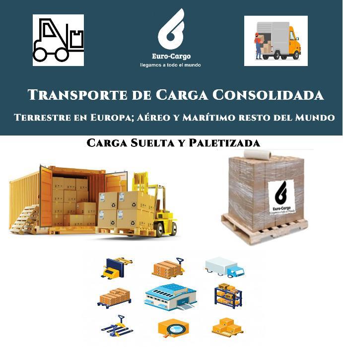 Transporte Carga Consolidada - Grupajes a partir de 1 mt3