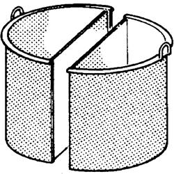 Basket for boiling pan 2x 1/2 50 liters - ACCESSORIES