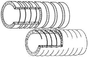 Vehicle exhaust hose - Technical hose products