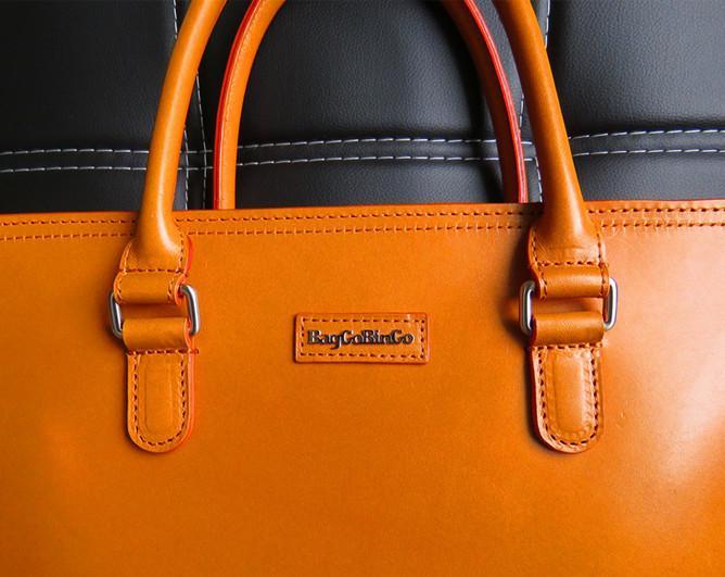 Baggo Bingo Uni Messenger Handbag Business Bag Vegetable Tanned