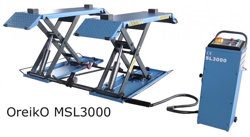 OreikO MSL3000 Elevador De Tijera 3000kg - 220V - Repuestos permanentemente en stock, incluso después de la garantía
