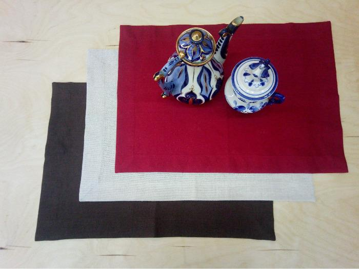 Placemats 50x35 cm made of 100% flax   -